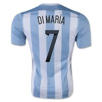 Customized Thai Quality 2015 - 2016 Argentina Home jersey #7 ...
