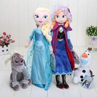 Retail 4pcs set Frozen 40cm Princess Elsa Anna Plush + Olaf ...