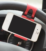 Car Streeling Steering Wheel Cradle Holder Clip Car Bike Mou...