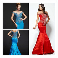 2015 Mermaid Evening Dresses Off The Shoulder Prom Dresses N...