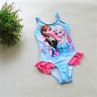 DHL Frozen Kids Elsa&Anna One- piece Swimsuit Baby Girl Elsa ...
