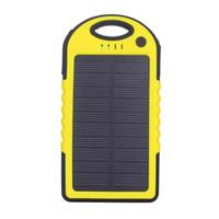 Панель зарядное устройство Портативный Солнечное зарядное 2 Порты USB мобильный телефон 5V Мобильный телефон Смартфон Водонепроницаемый мини Путешествия Открытый Универсальный Power Bank