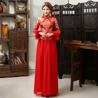 2015Large Warm Chinese Traditional SATIN Cheongsam for women...