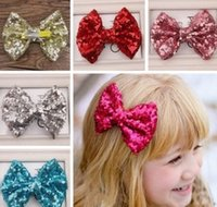 11 Colors 2015 New Baby Girl Hair Clip Fashion Paillette Seq...