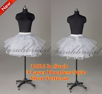 In Stock Cheap Short Petticoats 3 Layer Short Skirt Petticoa...