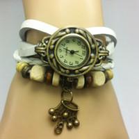 Korean fashion watch Miss Leather Weave female form bracelet...