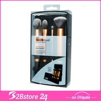 4Pcs Set Real Techniques Travel Makeup Brushes Essentials Ki...