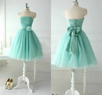 2015 Real Image Short Mint Green Tulle Bridesmaid Dresses Ch...