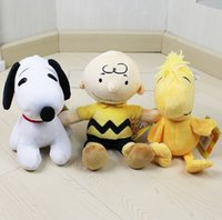 2015 Peanuts Comics Charlie Brown And Snoopy Plush Toys Doll...