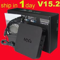 kodi 15,2 smart MX MXQ TV BOX Amlogic S805 Quad Core Android 4.4.2 Video Stream H.265 1 Go 8 Go Chaînes TV Media Player Google Play OTH035