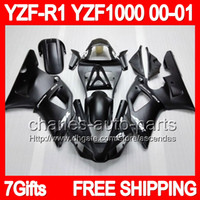 7gift Body For YAMAHA YZFR1 YZF R1 00- 01 Flat black YZF1000 ...