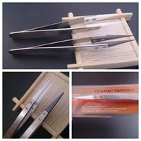 Isolation tweezer Céramique Emballage Coiler fil Wick outil thermique antistatique en acier inoxydable nipper blanc noir pour le bricolage RDA RBA atomiseur DHL