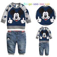Retail Baby Boys Long- Sleeve Cartoon Mickey Mouse Printed Sw...