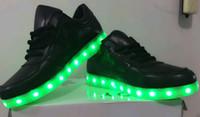 2016 fashion 7 Colors LED luminous shoes unisex sneakers men...