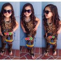 Kids clothes summer Girl leopard romper baby leopard jumpsui...