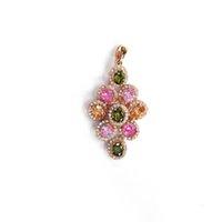 Rose pendentif en plaqué or pendentifs cristal strass pendentif en forme de cage pour le parti bijoux de mode des femmes en gros APS24159