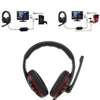 4 in 1 professionale la cuffia stereo ad alta fedeltà del gioco cuffia auricolare con microfono per PS3 PS4 XBOX 360 PC computer portatile C2179
