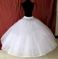 New Arrival White 8 Layers Hoopless Ball Gown Wedding Pettic...