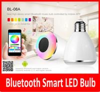 LED Light Lamp Bulb E27 Bluetooth Speaker Wireless Light Mus...