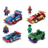 The Avengers Superhero Movie car Building Blocks 4 Styles 20...