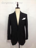 Top Charming Black Blazers Man Suit Wedding Dresses Notched ...