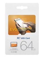 NUEVO EVO 128GB 64GB 32GB 16GB Micr SD Tarjeta MicroSD TF Tarjeta de memoria C10 Flash SDHC SD Adaptador SDXC Paquete DHL LIBRE