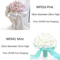 2015 Pink Mint Cheap Bridal Wedding Bouquets Decorations Art...