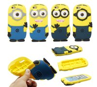 3D Despicable Me Minion Cute Soft Silicone Case Cover For Ap...