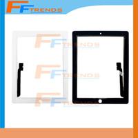 Panneau de verre d'écran tactile OEM de haute qualité avec numériseur pour iPad 2 3 4 Noir et blanc Livraison DHL