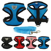 Breathable Mesh Small Dog Pet Harness and Leash Set Puppy Ve...