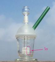 Nouveau HitMan Starbuck Cup bong avec percolateur Original Opaque Bright vert dab concentré plate-forme pétrolière verre bong Hookah verre tuyau d'eau