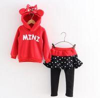 Christmas MINI Clothing Cartoon 2pcs Set Bowknot Girls Hoode...