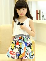 For Big Children Girls Dresses 2015 Summer Kids Clothes Kore...