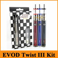EVOD Twist III Kit E Cigarette Kit 1600mAh EVOD Twist 3 Батарея M16 Форсунка Огромный Vaporizer Kit Быстрая доставка