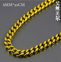 Free shipping 100% 24K real Gold filled 0. 8cm wide 76cm Long...