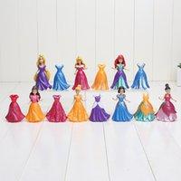 8~9cm Princess Snow White Ariel Belle Rapunzel Aurora PVC Ac...