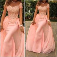 Elegant Long Evening Dress 2015 Mermaid Scalloped Cap Sleeve...