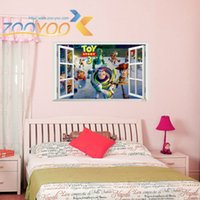Cheap Toy Story Cartoon Window Wall Stickers For Kids Rooms ZooYoo1403  Decorative Adesivo De Parede Removable Pvc Wall Decal 3.5