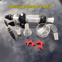 Nectar Collector 2.0 Kit Complet Avec Honey Paille Embouchure Tige Titane Quartz Nail Kit détachables Nectar Collectionneurs V2 Pour Wax Dry Herb