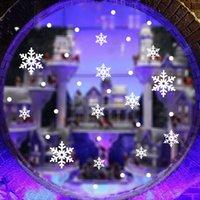 Съемный vinly ПВХ snowfake окно стикер DIY искусства рисунок дом номер Обои украшения стены стикеры DHL Бесплатные