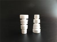 2015 Livraison gratuite CNCamille en céramique clouage des tuyaux d'eau bong verre de la ruche clous en céramique sans dents 18mm 2pcs / lot