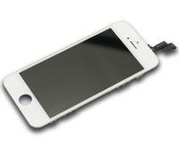 Черный Белый ЖК-дисплей с сенсорным экраном дигитайзер Полное собрание для iPhone 5S Замена запчастей epacket