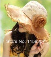 2014 New Summer Woman Sun Hats Beach Hats Big Brim Uv Protec...