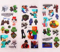 Minecraft Sticker 3D Cartoon party Decorative book Stickers ...