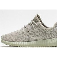style 1: 1Yeezy 350 Moonrock Color White All Black Running sh...