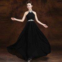 Tarik Ediz 2016 A- Line Evening Dresses Halter Formal Black B...