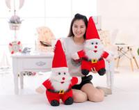 DHL ship 30cm Santa Claus doll Stuffed Plush Toys for 2016 k...