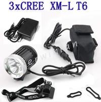Новые CREE XML-T6 3 СИД 3800LM велосипед света HeadLamp велосипедов Передняя фара лампа фонарик + зарядное устройство + держатель + Аккумулятор