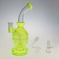 "Glass Water Bongs 9"" fluorescent green Faberge Egg Moth..."