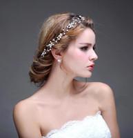 2016 Vintage прозрачные кристаллы Жемчуг Свадебные тиары свадебный венец Свадебные аксессуары волос торжества украшения CPA475